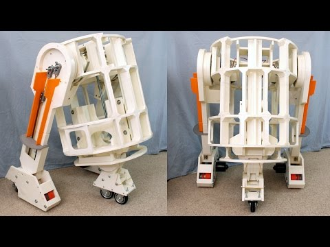 XRobots - 3D Printed Star Wars R2-D2 Part 7, Centre Leg and Lots of Driving with 2-3-2!