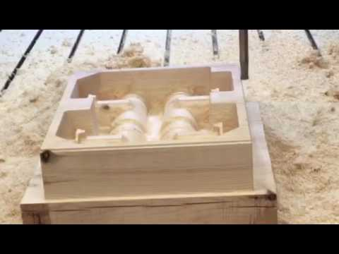 wood wooden aluminium pattern making cnc router for foundry - YouTube