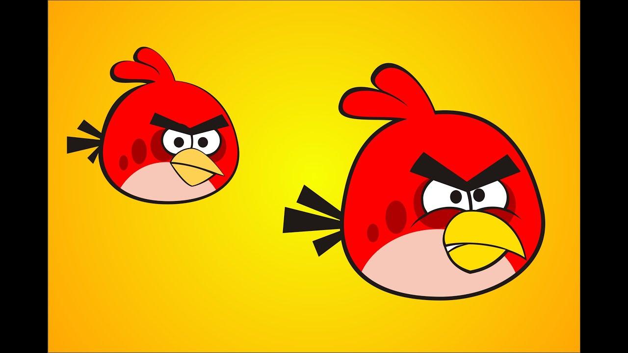 How To Draw Red Angry Bird Using CorelDraw X3, X4, X5, X6