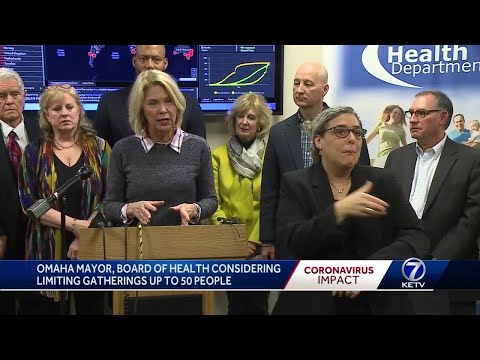 Omaha mayor, Douglas County Board of Health considering limiting gatherings to 25-50
