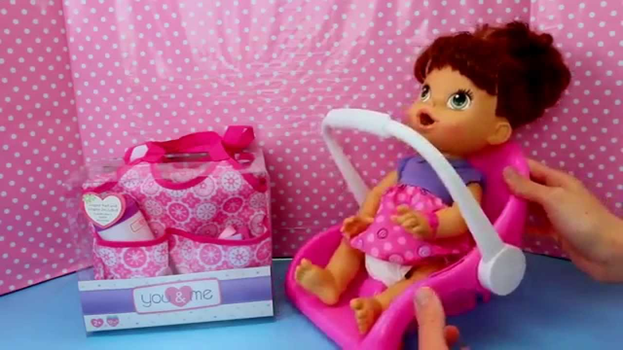 Baby Alive Lucy Outing With Car Seat Amp Packing Diaper Bag