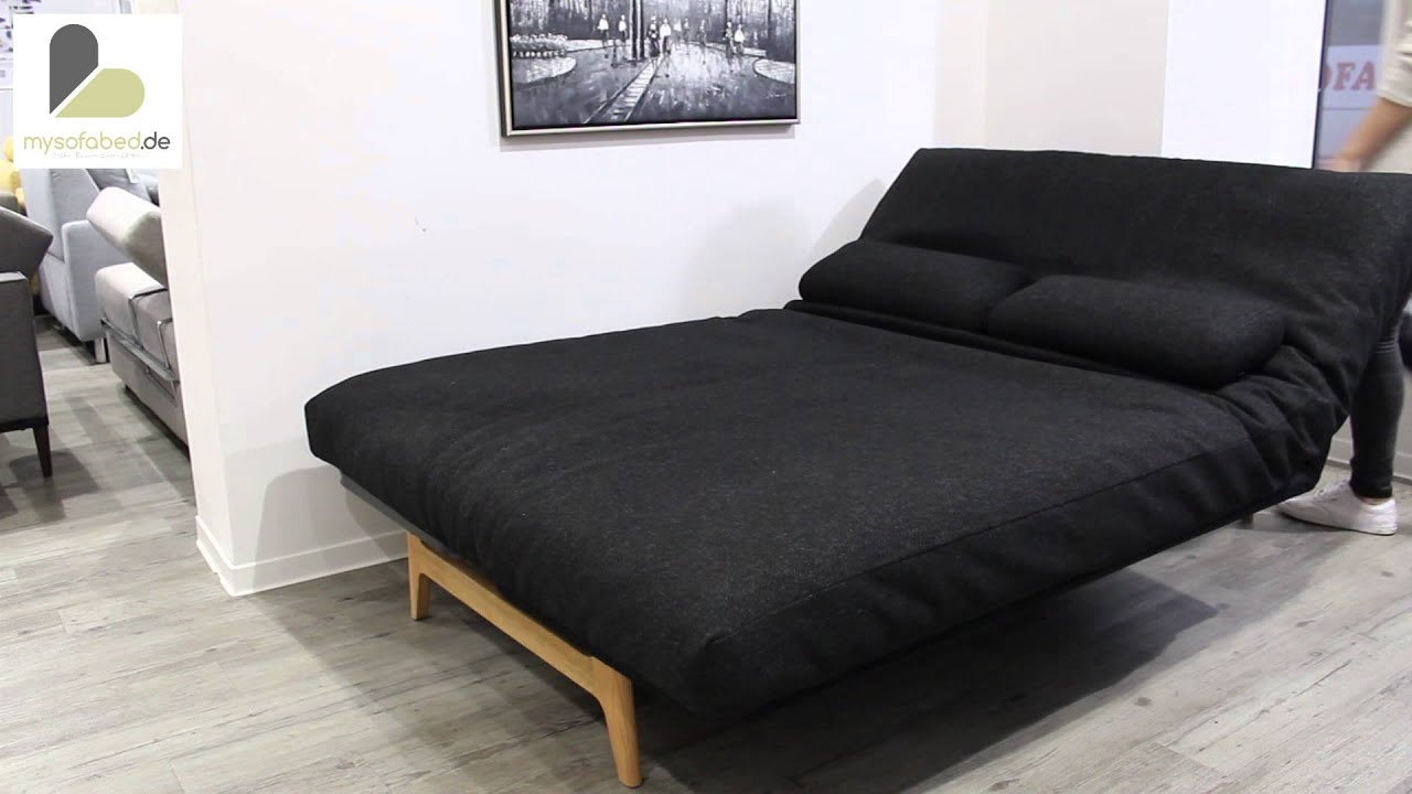 schlafsofa aslak von innovation twist black youtube. Black Bedroom Furniture Sets. Home Design Ideas