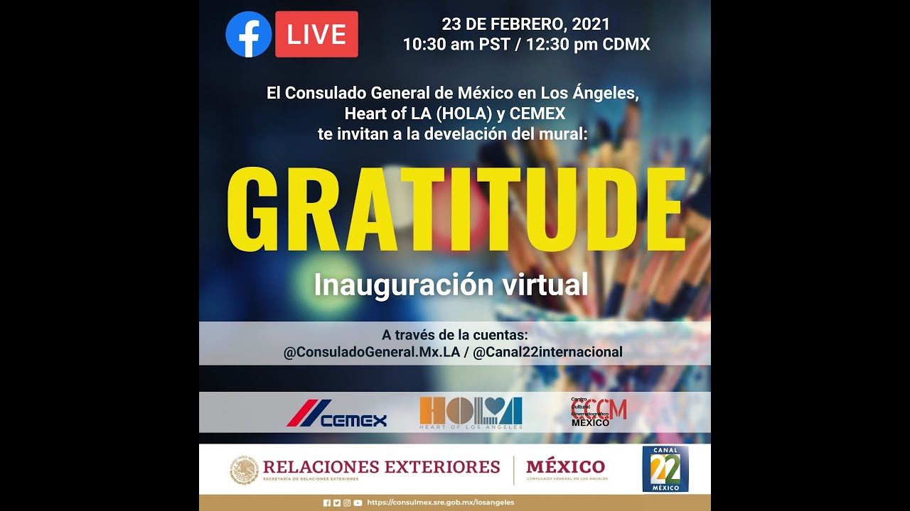 """Develación del mural """"Gratitud"""" 23 de febrero"""