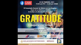 Inauguracion Mural Gratitude | 23 de febrero