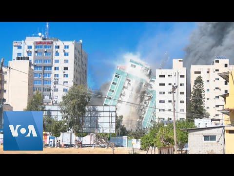 Israel Flattens Gaza Building Hosting AP, Al-Jazeera in Airstrike