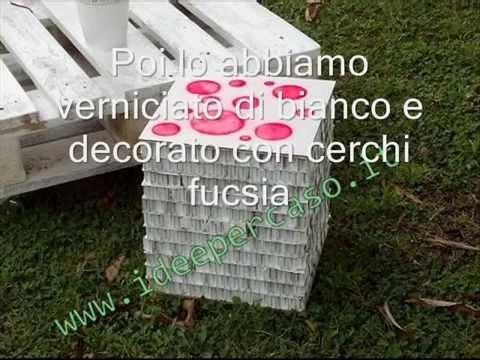 Riciclo creativo sgabello di carta riciclando alcuni cartoni da