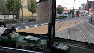熊本市交通局のブレーキ操作の仕方が特徴的な運転士さん