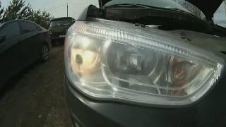 Замена ламп ближнего света и габаритов на автомобиле