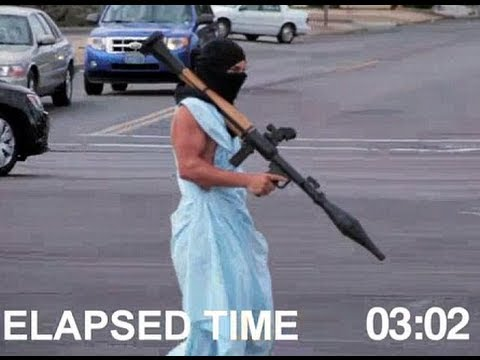 Stupid terrorist with rpg prank test video gets guy arrested youtube