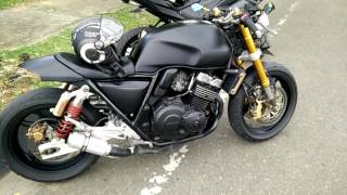 #2 CB 400 SF Cafe Racer exhaust sound (Part I)