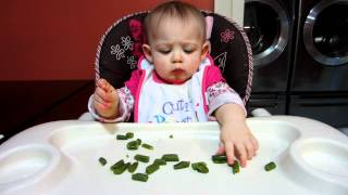 Vanessa Powell Eating Green Beans