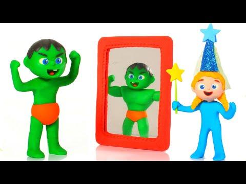 Kids Pretending To Be Muscular Men ❤ Cartoons For Kids