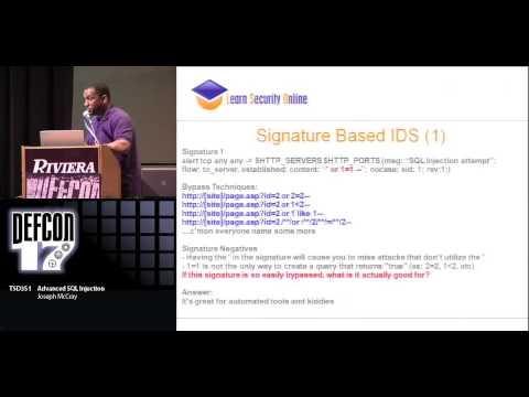 DEF CON 17 - Joseph McCray - Advanced SQL Injection