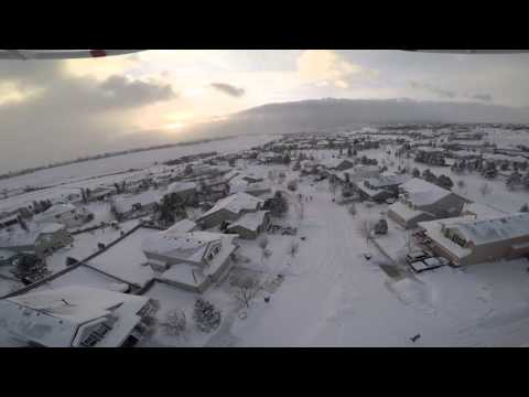 Drone Flight over Colorado Springs after Groundhog Day Storm 2015