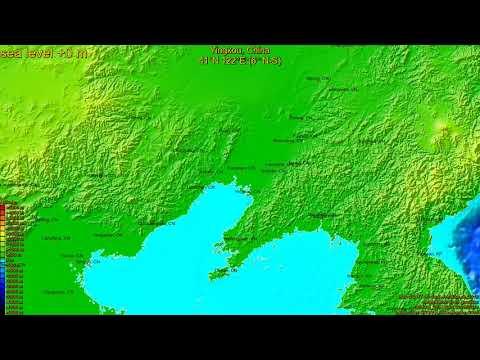Yingkou, China, (z+c) sea level rise -135 - 65 m