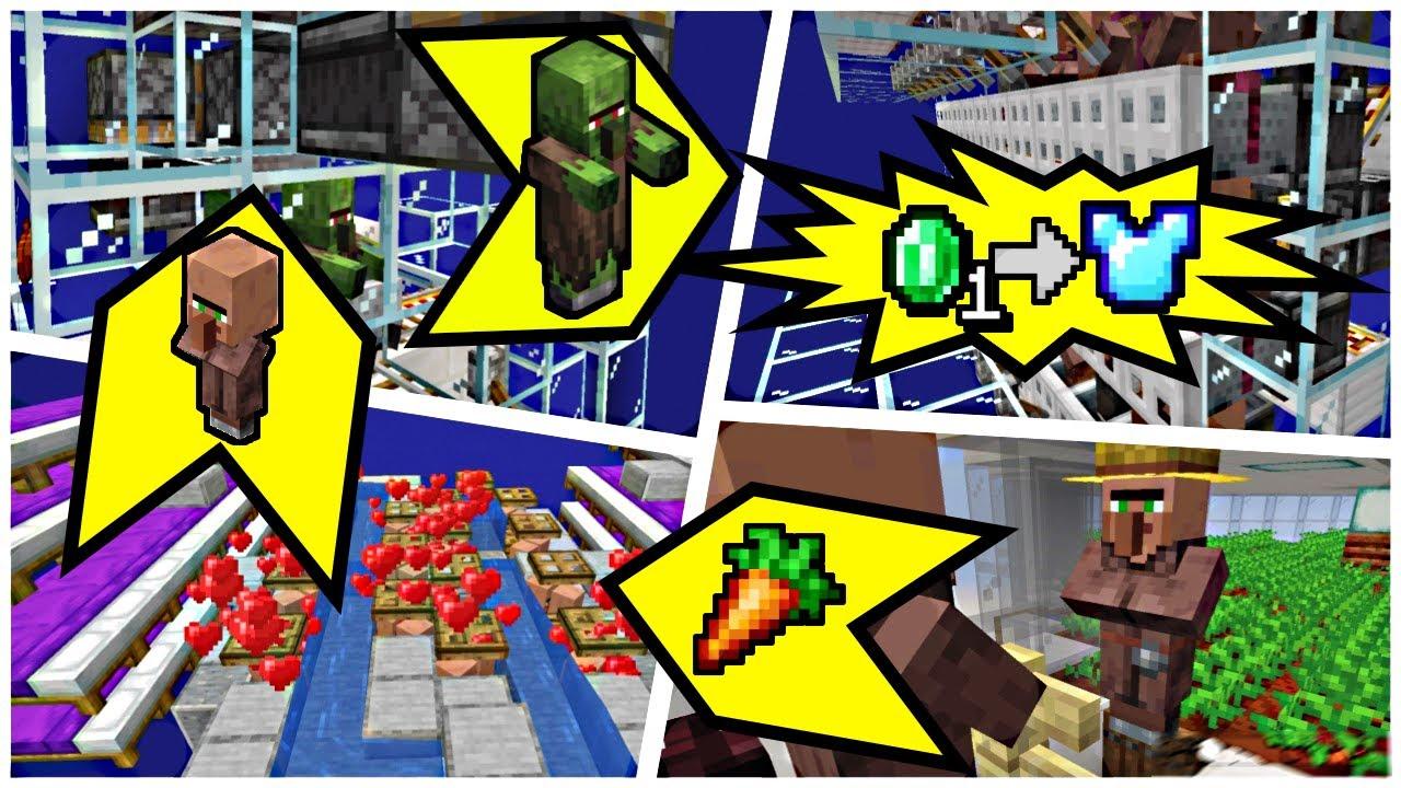 ALL in 1 Villager Factory! (Crops, Breeder, Curer, Trading Hall) | 1.16.2 Minecraft