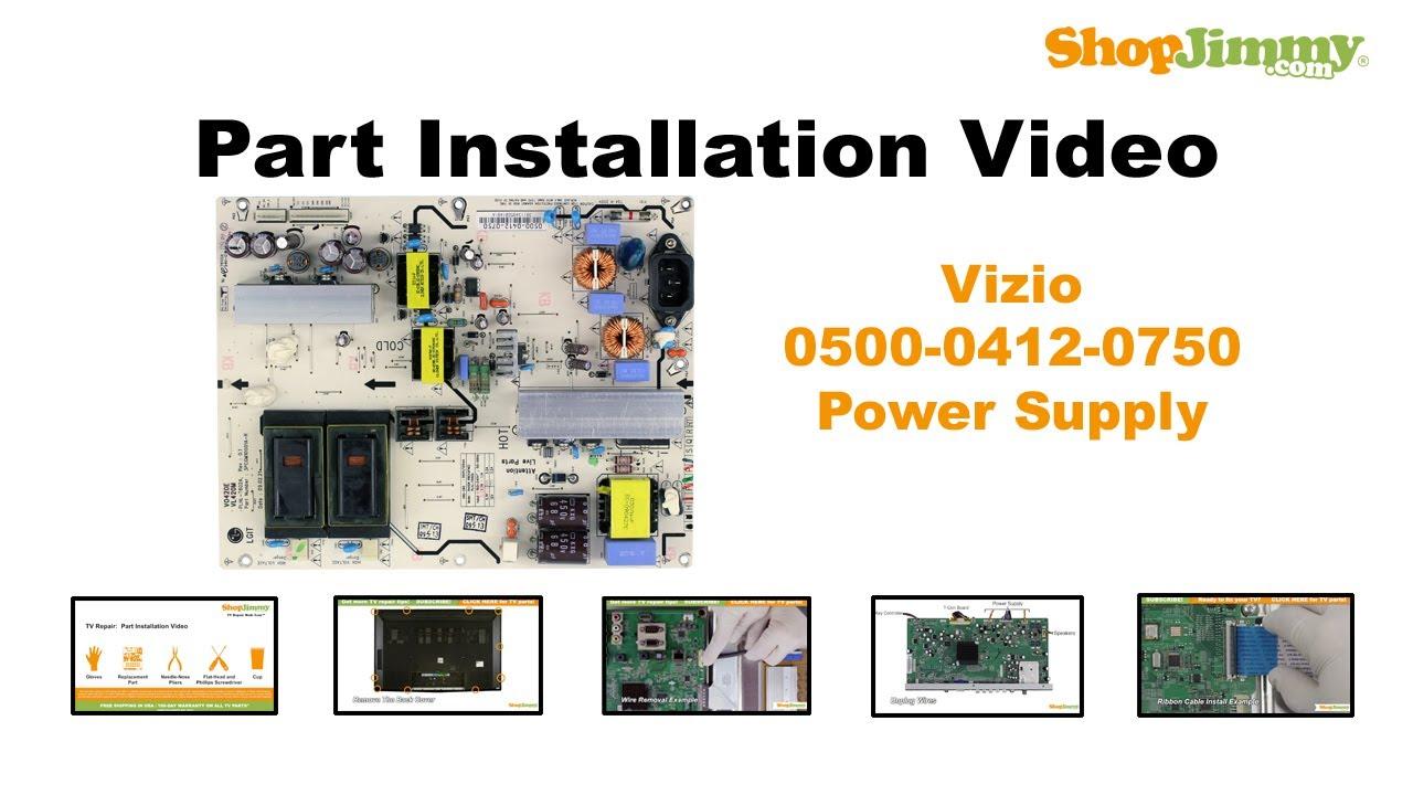Vizio TV Repair Power Supply Unit Replacement