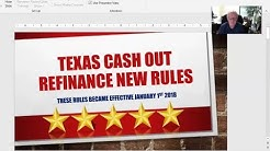 New Texas Cash Out Refinance Rules in Seabrook Effective January 2018