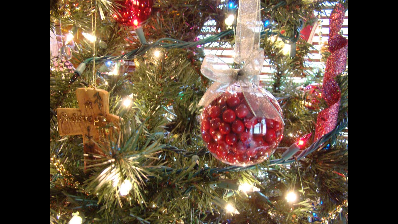 easy glass christmas ornament tutorial - Youtube Christmas Decorations