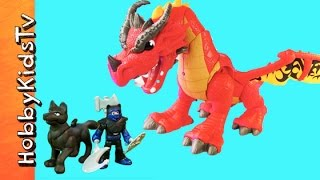 Imaginext Castle Dragon and Wolf Toy Review by HobbyKidsTV