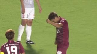 相手GKが弾いたボールを田中 順也(神戸)が蹴り込み、試合開始早々に先...