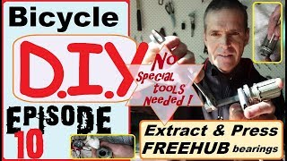 Extract & press freehub bearings- no special tools