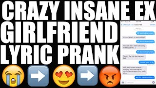 Song Lyrics Text Prank on EX GIRLFRIEND -
