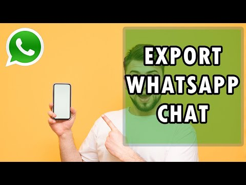 How To Export WhatsApp Chat History To PC