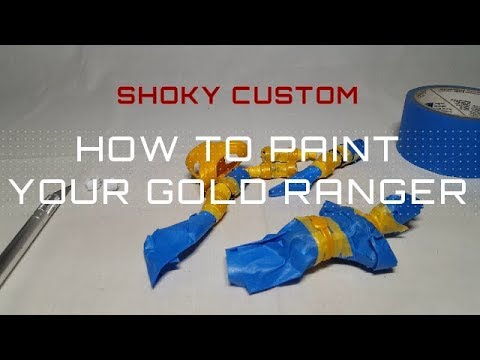 SHOKY CUSTOM: HOW TO PAINT YOUR GOLD RANGER
