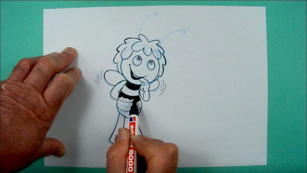 malvorlage biene einfach  zeichnen und färben