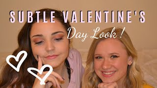 SUBTLE VALENTINE'S DAY LOOK / SOFT GLAM MAKEUP | Jenna & Shelby