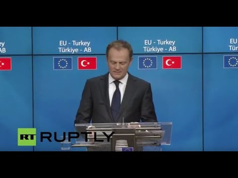 LIVE: Press conference concludes meeting between European Council and Turkey