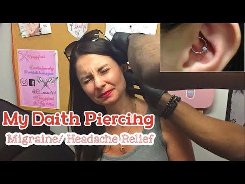 MY  DAITH EAR PEIRCING & MIGRAINE/HEADCAHE RELIEF