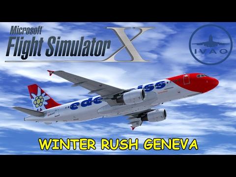 [LIVESTREAM] FSX | IVAO EVENT | Zürich - Genf - Frankfurt | Winter Rush Geneva | Edelweiss Air A320