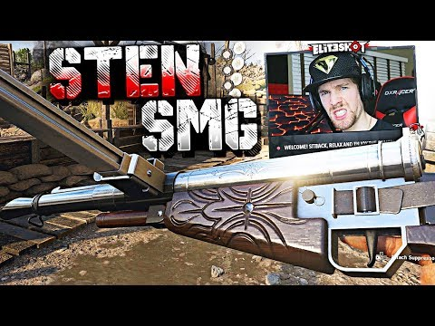 "UNLOCKED HEROIC ""STEN"" DLC WEAPON! (COD WW2 DLC Gun Gameplay)"
