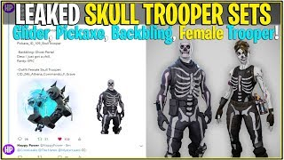 *NEW* Fortnite: SKULL TROOPER OFFICIAL SETS! *Woman Skin, Pickaxe, Glider and More!*