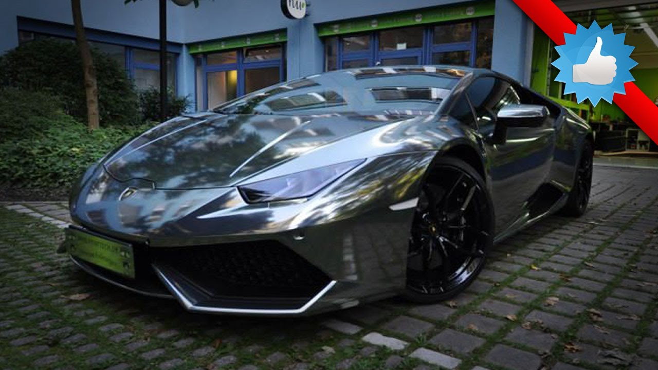 2014 lamborghini huracan wrapped in matte chrome print tech youtube - Lamborghini Huracan Matte Black