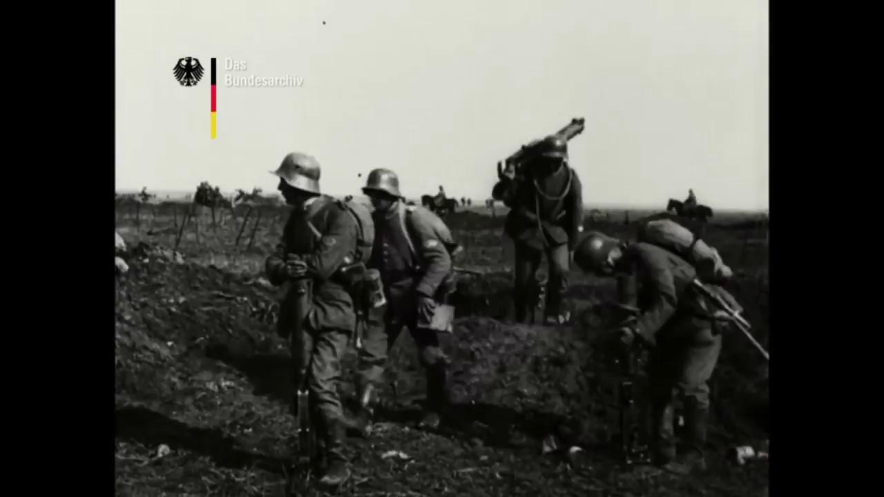 Frühjahrsoffensive an der Westfront ab 21.März 1918 | Erste Bildaufnahmen | Stummfilm 1918