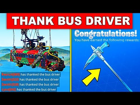Thank the Bus Driver in different Matches – DAY 11 REWARD (14 DAYS OF FORTNITE CHALLENGES)
