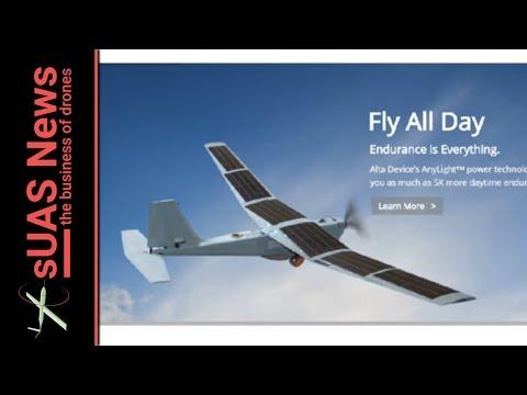 Alta Devices World Record Solar Drone tech