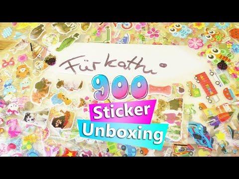 Mega Überraschung für Eva | 900 Sticker Unboxing & Emoji Brief für Kathi | Super süße Aufkleber