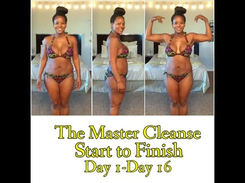 Master Cleanse Before & After (Start to Finish: Day 1-16) before & after pics