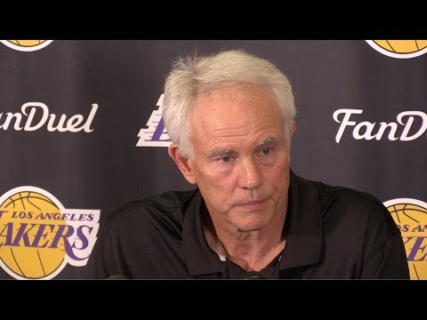 GM Mitch Kupchak press conference after the Lakers 17-65 season.