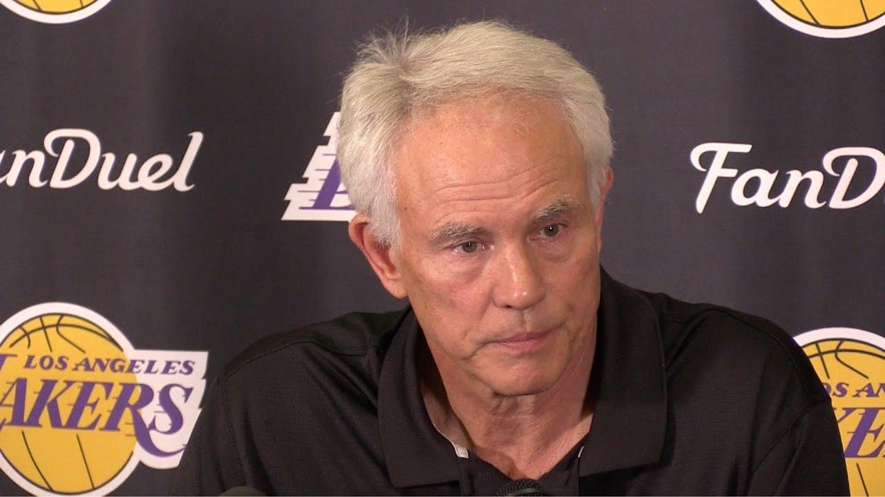 GM Mitch Kupchak press conference after the Lakers 17 65 season