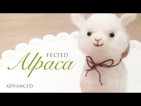 Baby Alpaca Needle Felt Tutorial