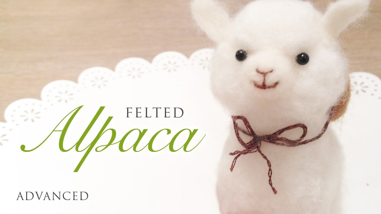 Baby Alpaca Needle Felt Tutorial - YouTube