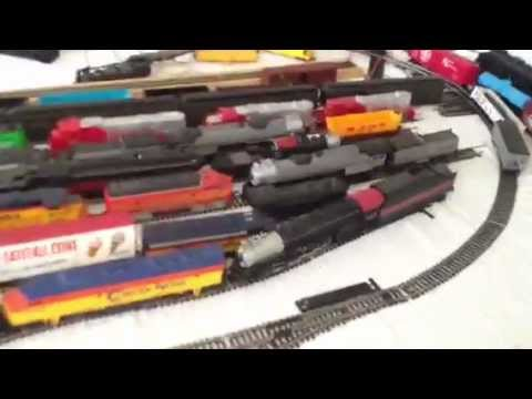 Lot of HO trains found at yard sale