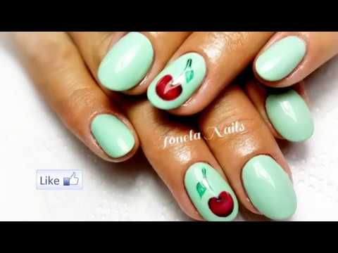 Cirese Pictate Manual Pas Cu Pas Cherry Nails Art