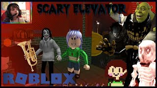 JEFF THE KILLER VS THE MASTERS OF HORROR!! - Roblox: Scary Elevator