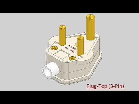 Plug-Top (3-Pin)-Video Tutorial (SolidWorks)